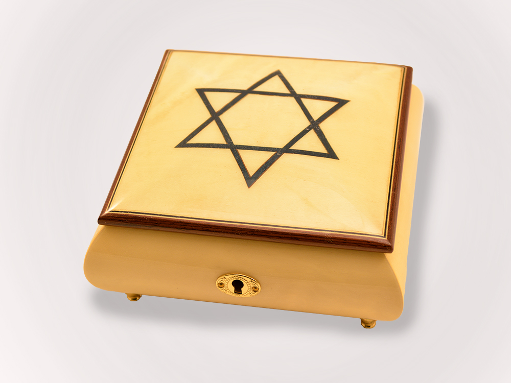 Judaica Jewelry Music Box