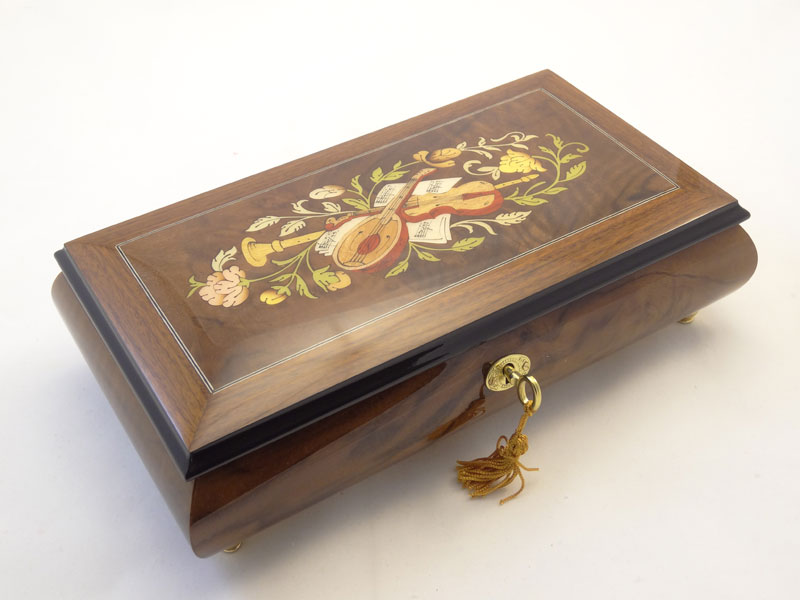 Musical Inlay Theme Jewelry Music Box Sorrento Music Boxes