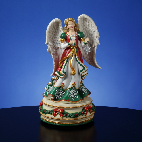 Holiday Treasures Snowflake Angel Figurine