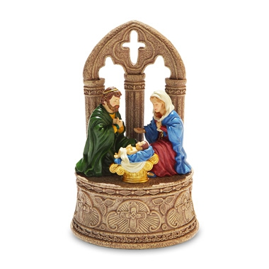 Rustic Nativity Figurine