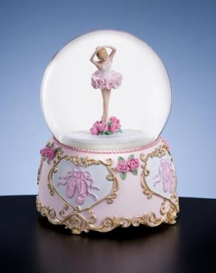 Rotating Ballerina Water Globe Music Box