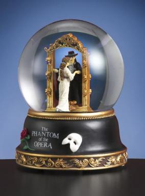 Phantom of the Opera Phantom & Christine Mirror Scene Water Globe Music Box