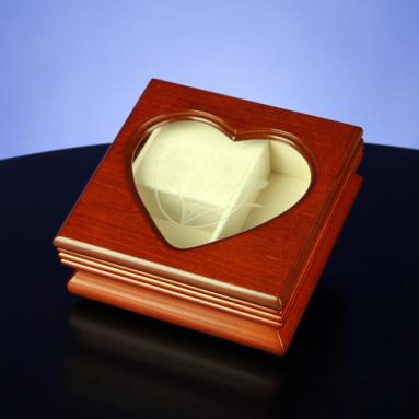 Heart Shape Window - Musical Jewelry Box