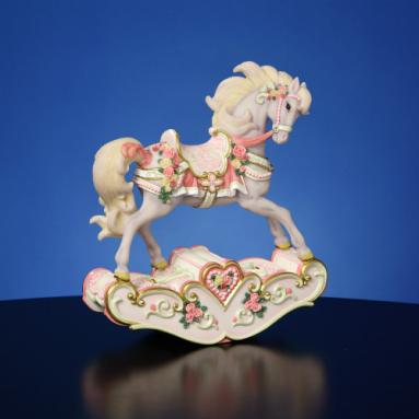 Hearts & Roses Rocking Horse