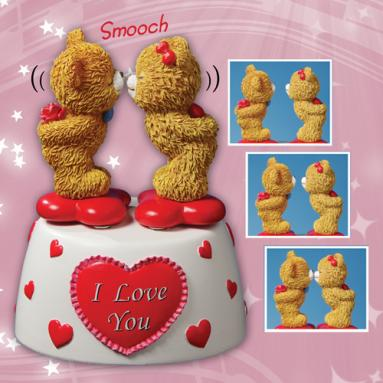 Kissing Bears Animated Figurine