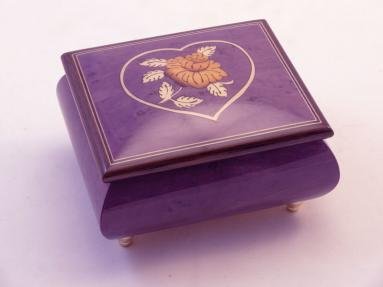 Purple  Romantic High Gloss Jewelry Music Box