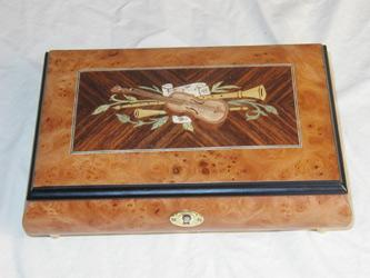 Matte Finish Musical inlay Jewelry Box