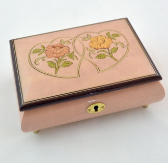 Lilac  Heart Duo romantic music box