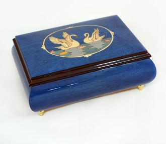 Swans Inlay Music Box