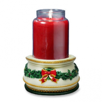 Holiday Treasures Musical Jar Candle Holder