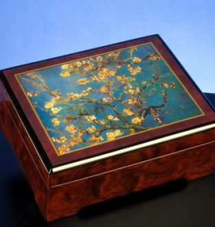 Van Gogh Blossoming Almond Musical Jewelry Box