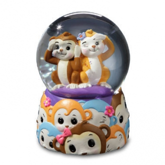 Jingle Jumbels Monkey Water Globe
