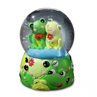 Jingle Jumbles Frog Water Globe