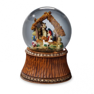Nativity with Stable Water Globe