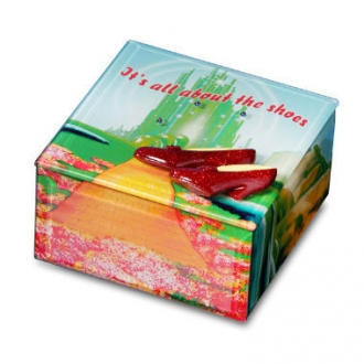 All About the Shoes Ruby Slippers Glass Box