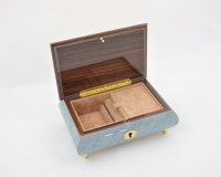 Light Blue Violin inlaid Music Box