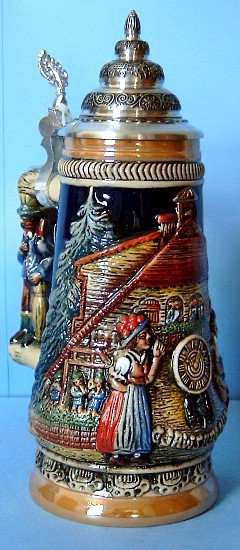 Black Forest Cuckoo Clock Peddler LE German Stein  .5L