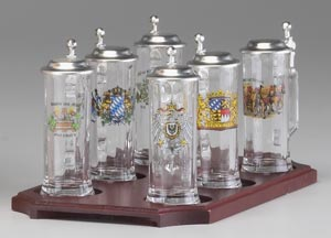 SET OF 6 MINIATURE STEINS