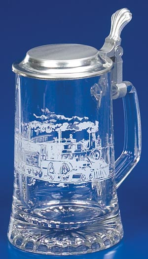 GLASS RAILROAD STEIN