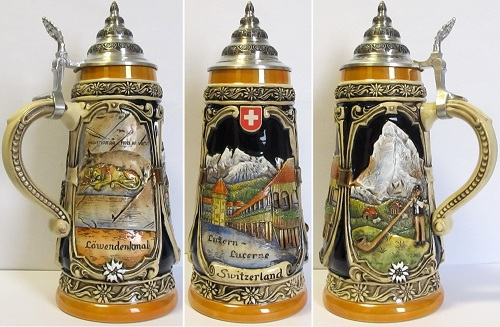 Limited Edition Lucerne Switzerland German Beer Stein .5L