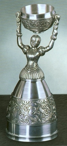 German Pewter Nuernberg Bridal Wedding Cup