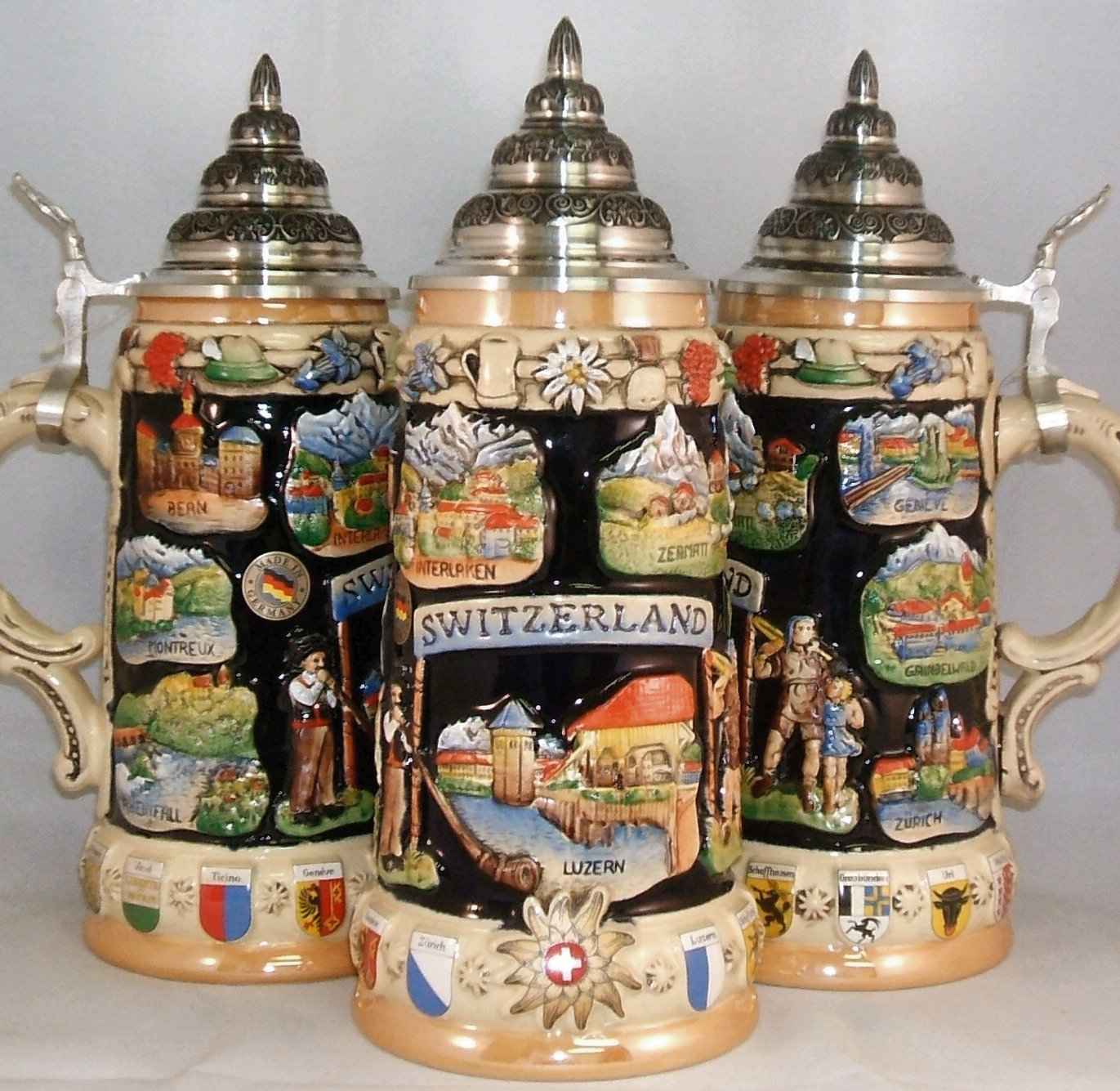 Switzerland Panorama LE German Beer Stein .75L