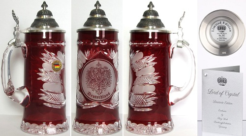 Lord of Crystal Limited Edition Germany Beer Stein .5L