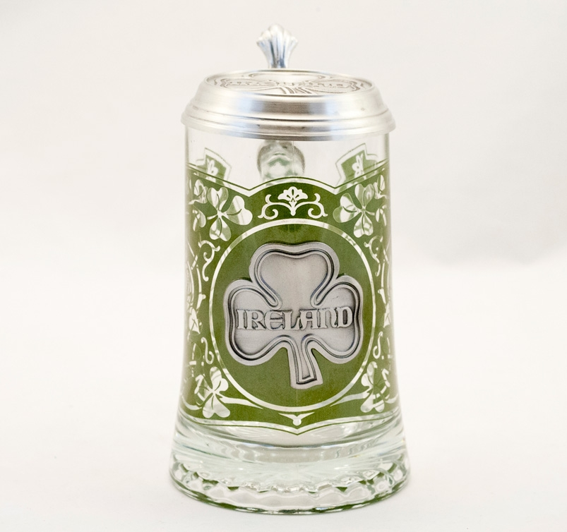 ireland glass beer stein with lid - Glass Beer Mugs