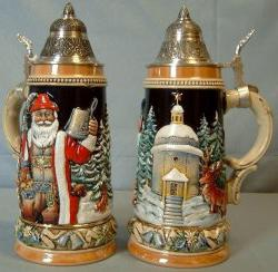Alpine Santa Silent Night Chapel LE German Christmas Beer Stein