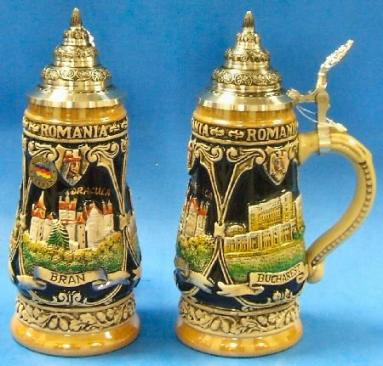 Bran Dracula Castle Romania LE German Beer Stein .25L