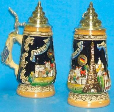 Paris France Eiffel Tower German Beer Stein .25L