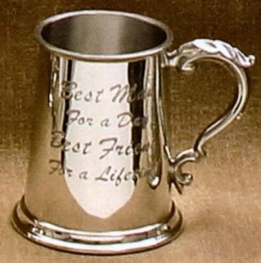 Best Man Fine English Pewter Tankard
