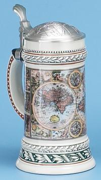 OLD WORLD MAP STEIN