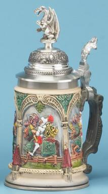 PETER DUEMLER DRAGON SLAYER STEIN