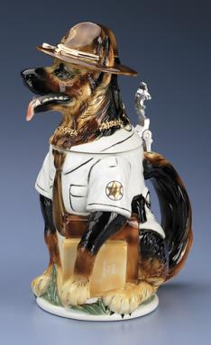 SHERIFF PORCELAIN DOG STEIN