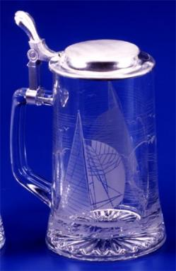 GLASS SAILING STEIN