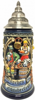 2015 Munchen Munich Bavarian Oktoberfest LE German Beer Stein .75 L Made Germany