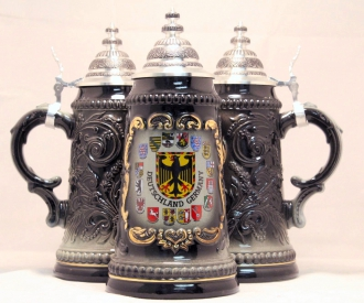 Deutschland Germany Eagle with State Crests German Beer Stein .125L