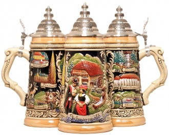 LE German Beer Stein Black Forest Schwarzwald