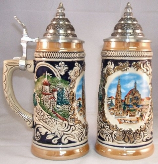 Nuernberg Christmas Market German Beer Stein .5L