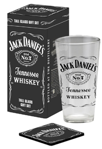 Jack Daniel's 20 oz Mixing Glass/Coaster Tin Set