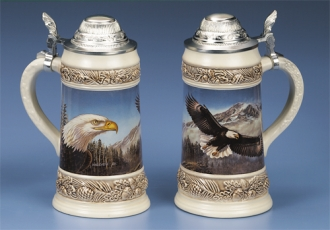 *JAMES MEGER BALD EAGLE II STEIN