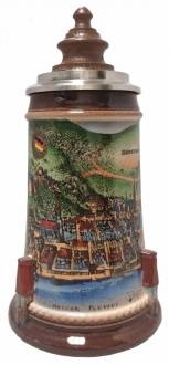Medieval Heidelberg LE German Stein with Wood Lid