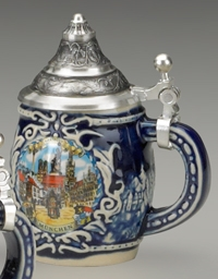 Mini Shield Stein,3 Assorted Cities