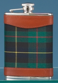 STAINLESS STEEL FLASK W/ PLAID WRAP