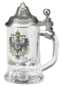 Mini Glass Stein With Lid
