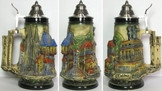 Limited Edition Rhine River Towns German Beer Stein .3L