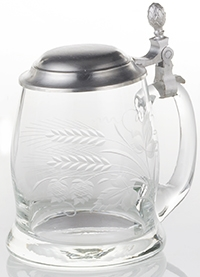 Engraved Stein With Pewter Lid