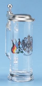 GERMAN FLAGS MINI GLASS STEIN