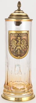 Polska Clasik 0.5L Glass With Metal Base